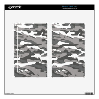 Gray Camo Skin For Kindle Fire