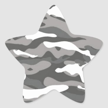 Gray Camo Star Sticker