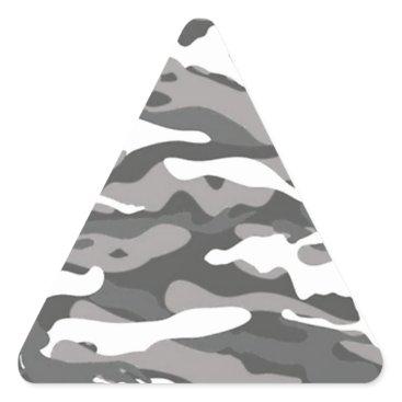 Gray Camo Triangle Sticker