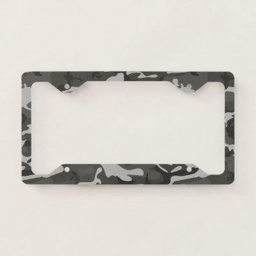 produkto Gray Camouflage. Camo your License Plate Frame