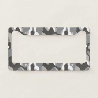 Gray Camouflage. Camo your License Plate Frame