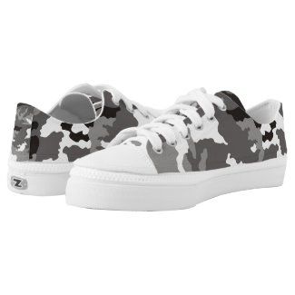 Gray camouflage pattern Low-Top sneakers