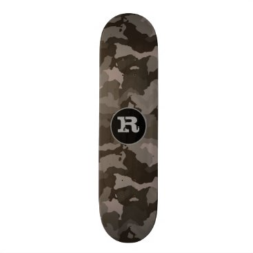 think_out_loud Gray Camouflage w/Monogram Skateboard Deck
