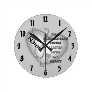 Gray Cardiac Care Nurse Round Clock