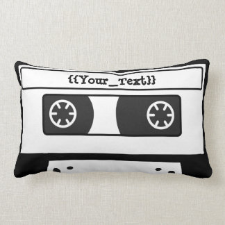 Gray Cassette Tape Pillows