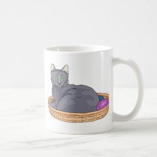 Gray cat 2 coffee mug