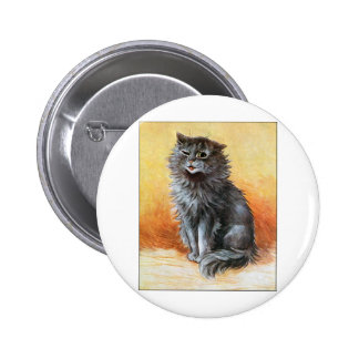 Gray Cat 2 Inch Round Button
