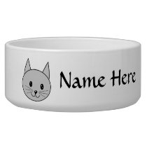 Gray Cat. Bowl