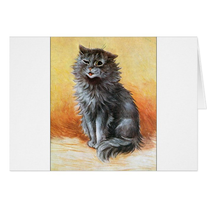 Gray Cat Card