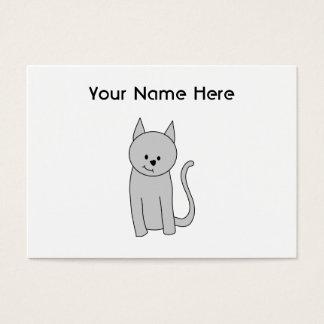 Gray Cat Cartoon. Business Card