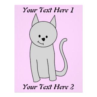 Gray Cat Cartoon. Custom Flyer