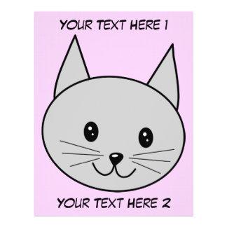 Gray Cat Cartoon. Personalized Flyer