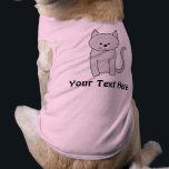 "Gray Cat Cartoon. Shirt<br><div class=""desc"">A cute gray cat image.</div>"