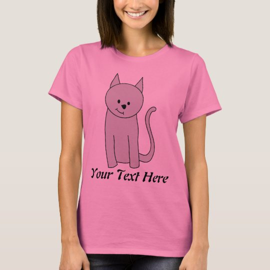 Gray Cat Cartoon. T-Shirt