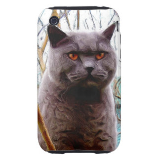 Gray cat iPhone 3 tough covers
