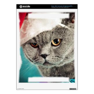 Gray cat christmas - Christmas cat -kitten cat Skin For The Xbox 360