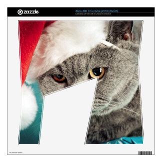 Gray cat christmas - Christmas cat -kitten cat Skins For Xbox 360 S
