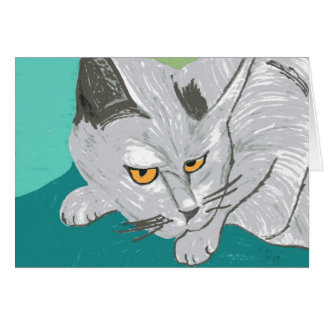 Gray cat, found Lincoln, NZ Card