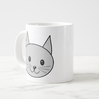 Gray Cat. Giant Coffee Mug