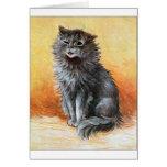 Gray Cat Greeting Card