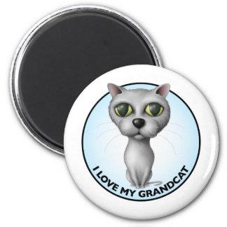 Gray Cat - I Love My Grandcat Magnet