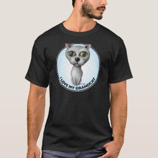 Gray Cat - I Love My Grandcat T-Shirt