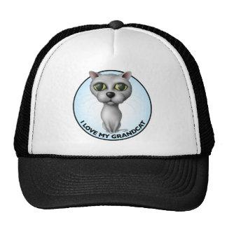 Gray Cat - I Love My Grandcat Trucker Hat