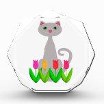 Gray Cat in Spring Flowers Award