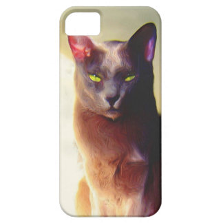 Gray cat iPhone 5 Case Barely There