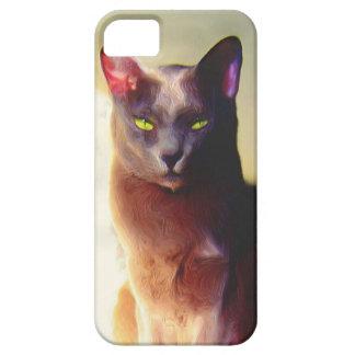 Gray cat iPhone 5 Case-Mate phone case