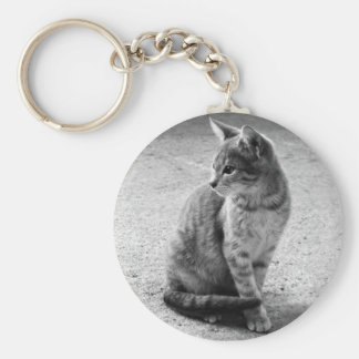 Gray Cat Keychain