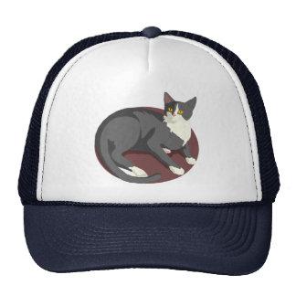 Gray Cat Lying Down Trucker Hat