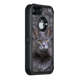 Gray Cat OtterBox iPhone 5/5s/SE Case