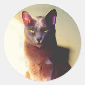Gray Cat Stickers
