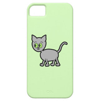 Gray Cat with Green Eyes iPhone 5 Covers