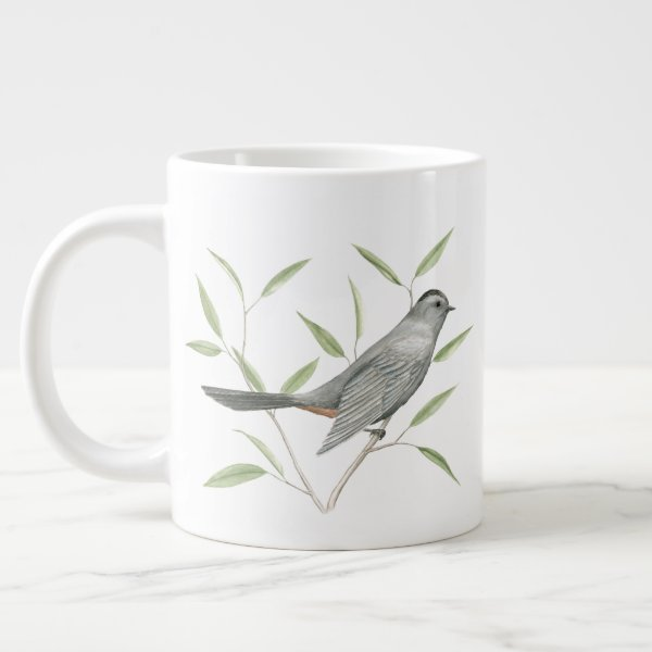 Gray Catbird Bird Art Giant Coffee Mug
