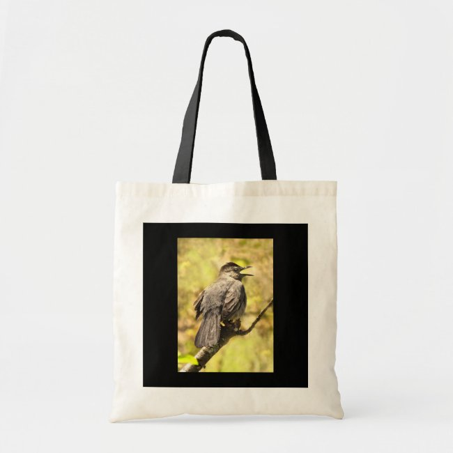 Gray Catbird Sings His Song Tote Bag