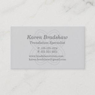 Translation business cards zazzle gray celtic knot translation business cards colourmoves