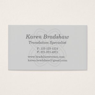 Gray celtic knot translation business cards gray celtic knot translation business cards reheart Gallery