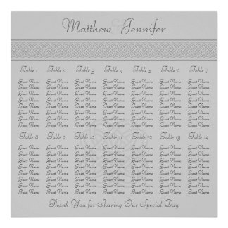 Gray Celtic Knot Wedding Reception Seating Chart
