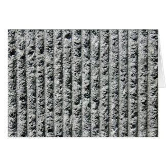 Gray Cement Wall with Grooves Card