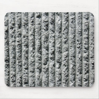 Gray Cement Wall with Grooves Mouse Pad