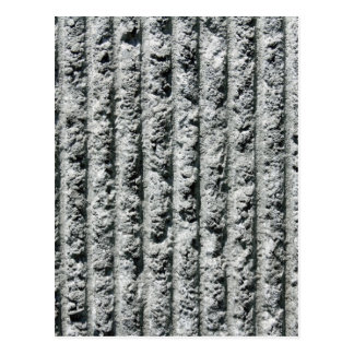 Gray Cement Wall with Grooves Postcard
