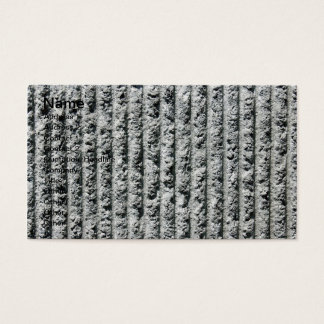 Gray Cement Wall with Vertical Lines Business Card