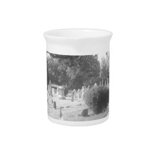 Gray Cemetery Beverage Pitcher