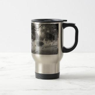Gray Cemetery Travel Mug