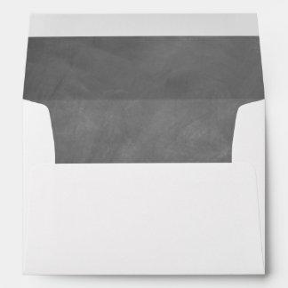Gray Chalkboard Lined Envelope