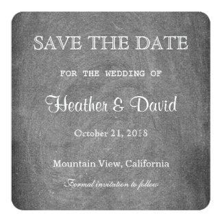 Gray Chalkboard Save the Date Wedding Invitation