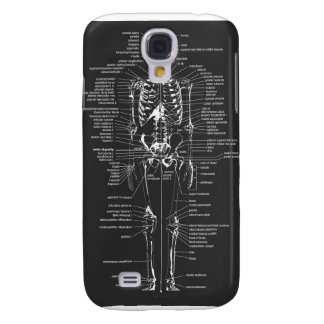 gray chalkboard style skeleton phone samsung s4 case