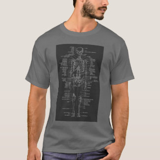 gray chalkboard style skeleton shirt